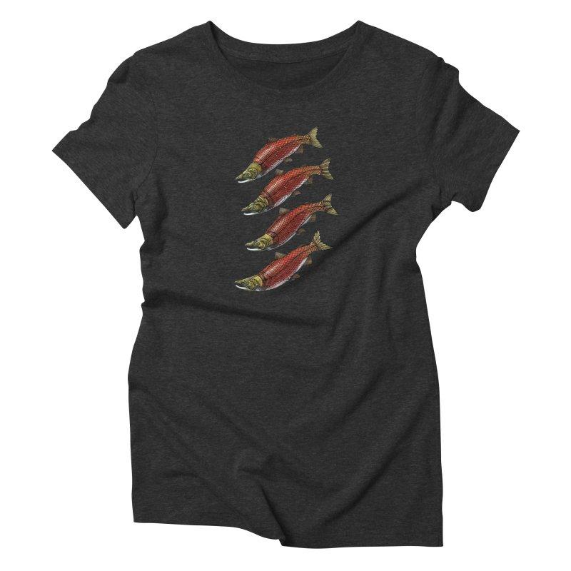 Sockeye Salmon Women's T-Shirt by Pellvetica