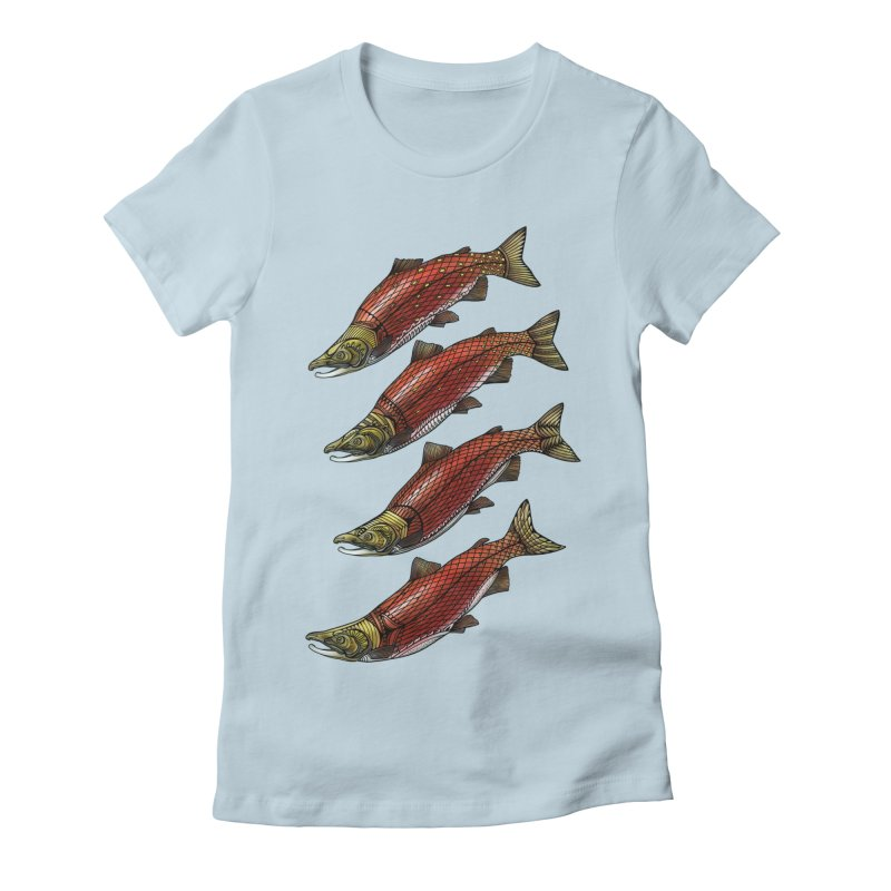 Sockeye Salmon Women's T-Shirt by Pellvetica