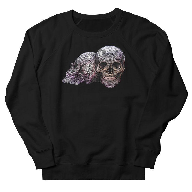 Skulls Women's French Terry Sweatshirt by Pellvetica