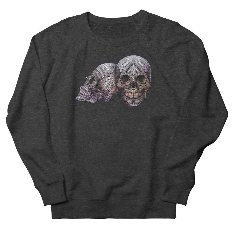 Skulls Men's French Terry Sweatshirt by Pellvetica