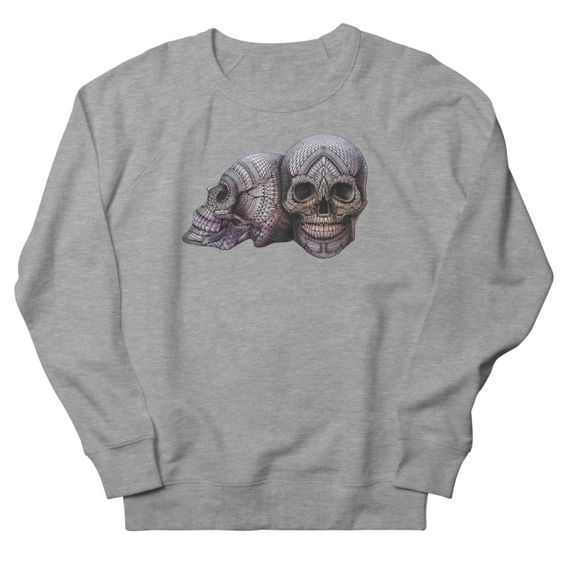 Skulls Men's French Terry Sweatshirt by Pellvetica