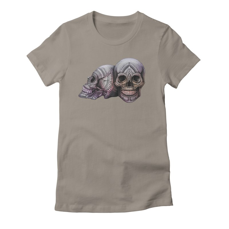 Skulls Women's Fitted T-Shirt by Pellvetica