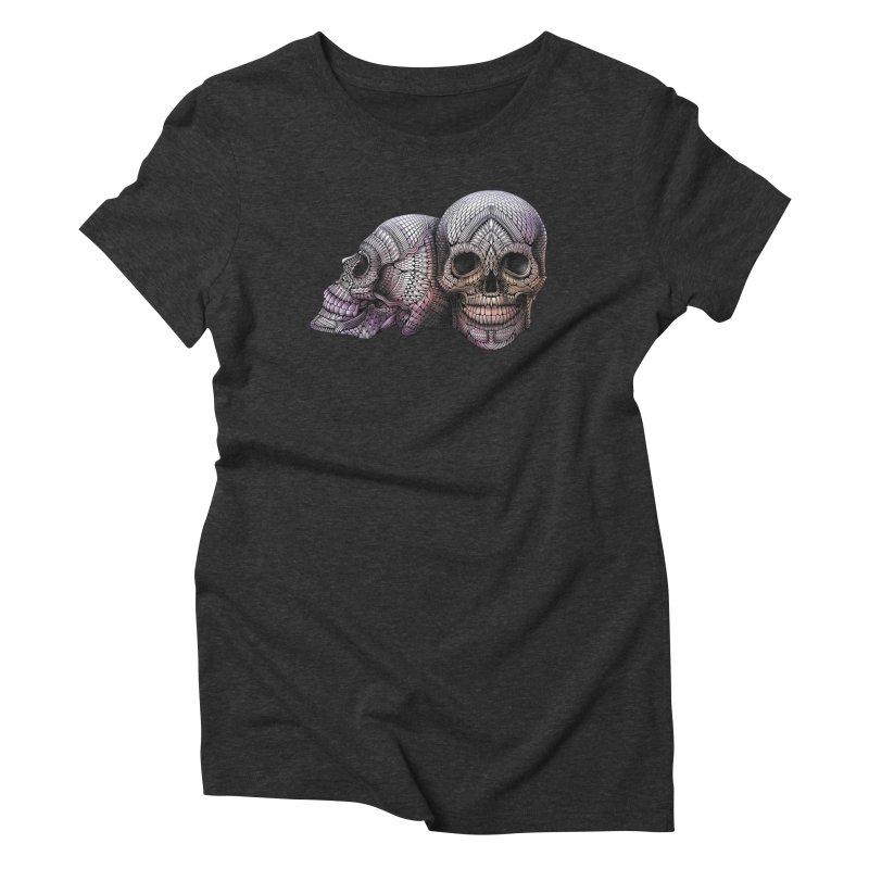 Skulls Women's Triblend T-Shirt by Pellvetica