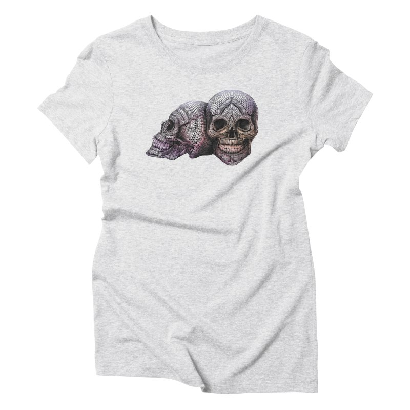 Skulls Women's Triblend T-Shirt by Pellvetica