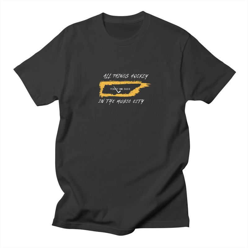 All Things Hockey In The Music City Men's T-Shirt by Penalty Box Radio's Artist Shop