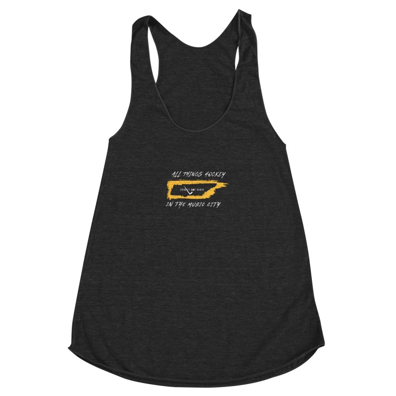 All Things Hockey In The Music City Women's Racerback Triblend Tank by penaltyboxradio's Artist Shop