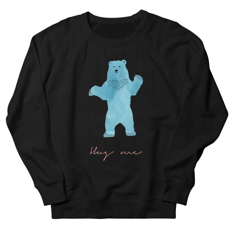 Hug Me Men's French Terry Sweatshirt by Pen & Paper Design's Shop