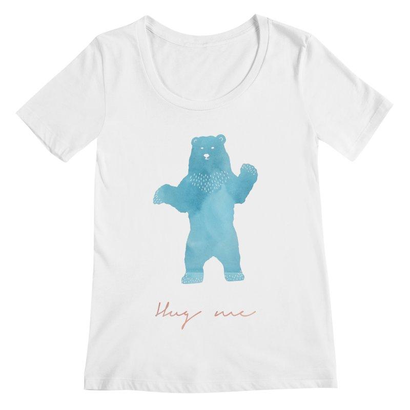 Hug Me Women's Scoopneck by Pen & Paper Design's Shop