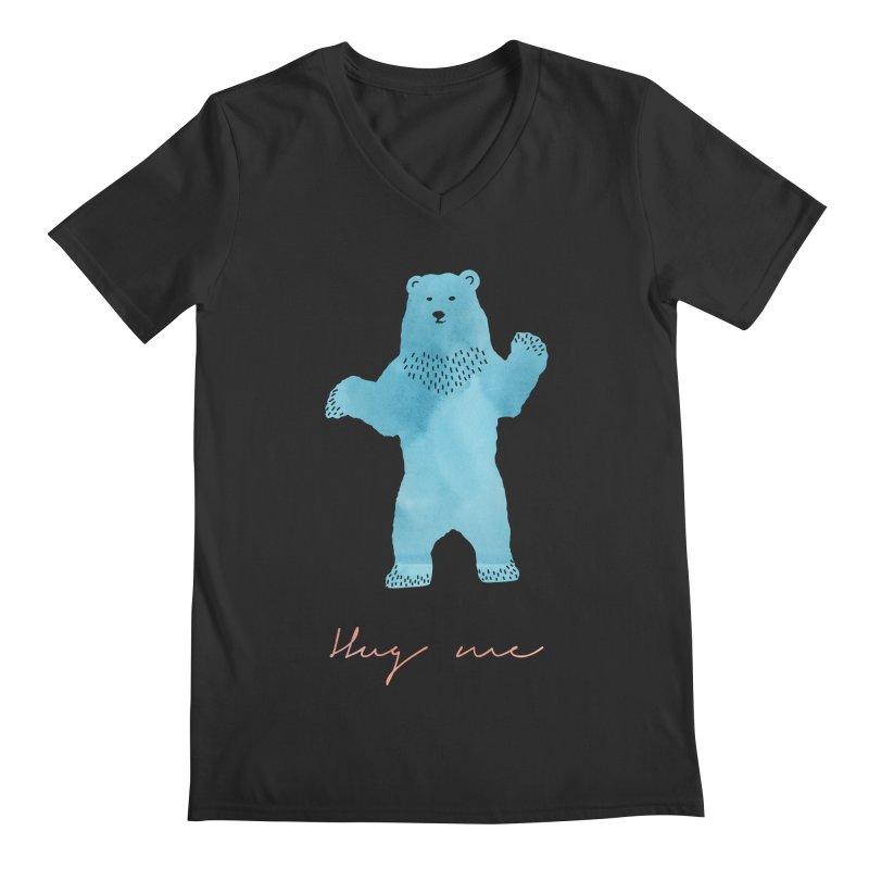 Hug Me Men's V-Neck by Pen & Paper Design's Shop