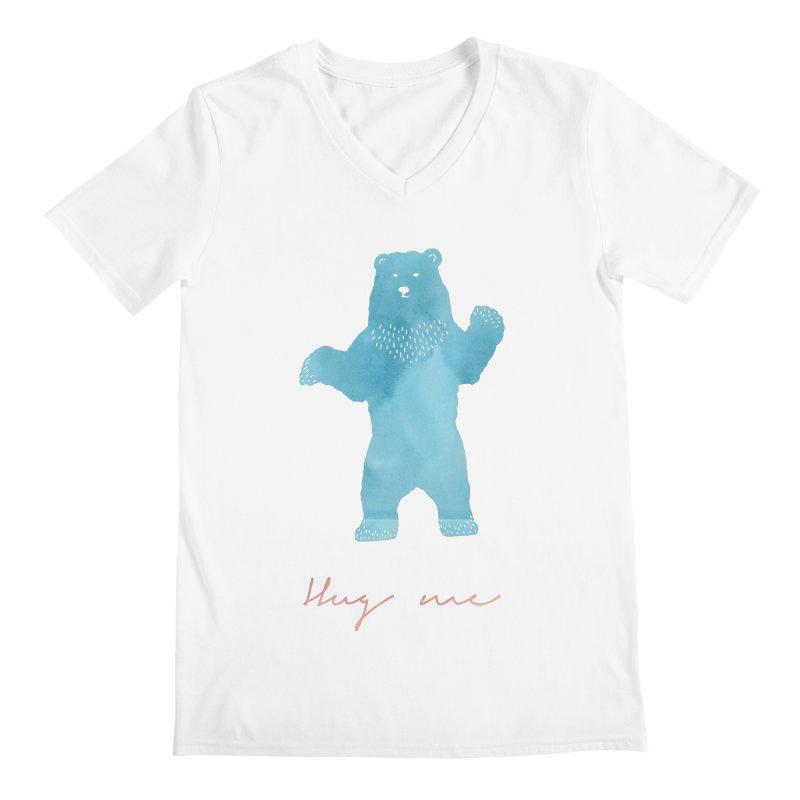 Hug Me Men's Regular V-Neck by Pen & Paper Design's Shop