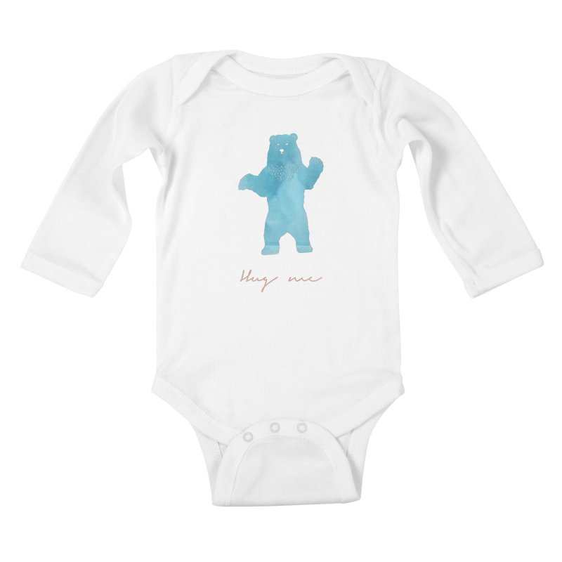 Hug Me Kids Baby Longsleeve Bodysuit by Pen & Paper Design's Shop