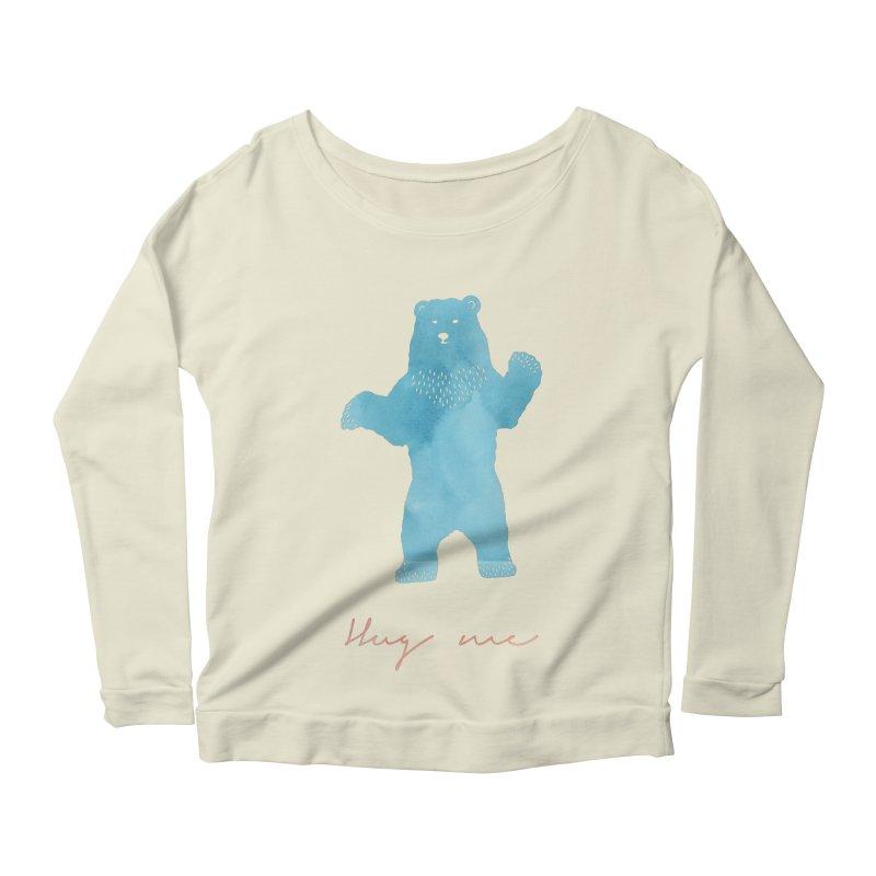 Hug Me Women's Scoop Neck Longsleeve T-Shirt by Pen & Paper Design's Shop