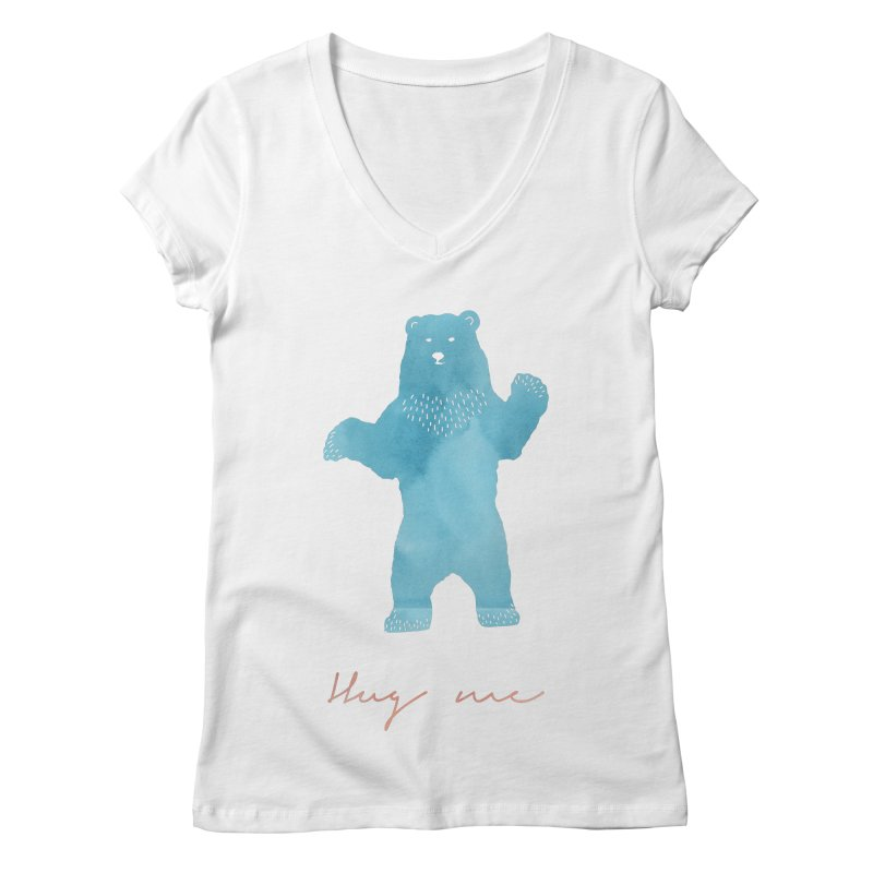 Hug Me Women's V-Neck by Pen & Paper Design's Shop