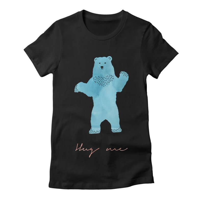 Hug Me Women's Fitted T-Shirt by Pen & Paper Design's Shop