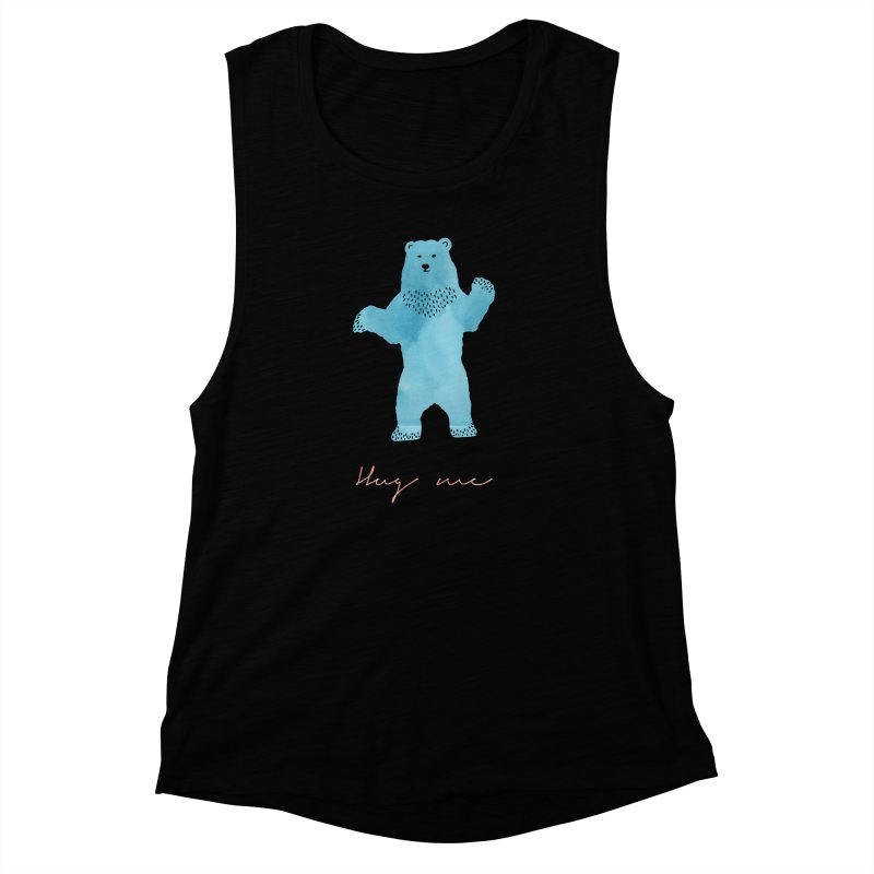 Hug Me Women's Muscle Tank by Pen & Paper Design's Shop