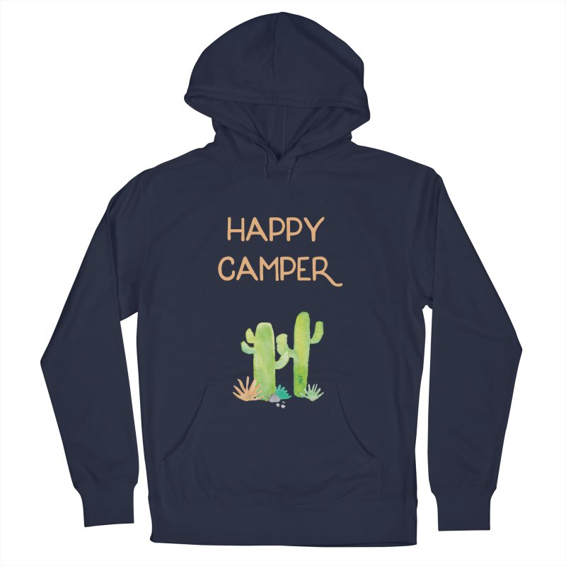 Happy Camper Men's French Terry Pullover Hoody by Pen & Paper Design's Shop