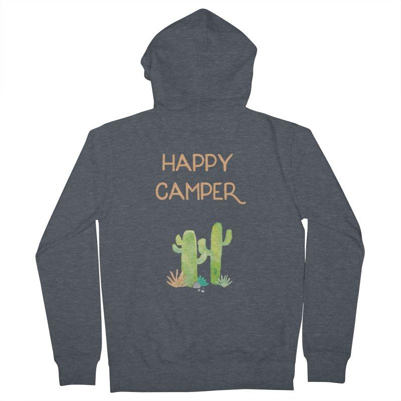 Happy Camper Women's Zip-Up Hoody by Pen & Paper Design's Shop
