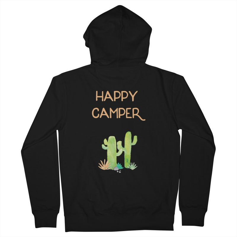 Happy Camper Women's French Terry Zip-Up Hoody by Pen & Paper Design's Shop