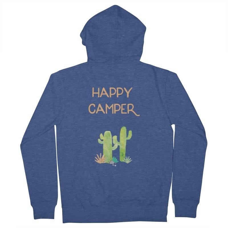 Happy Camper Men's French Terry Zip-Up Hoody by Pen & Paper Design's Shop