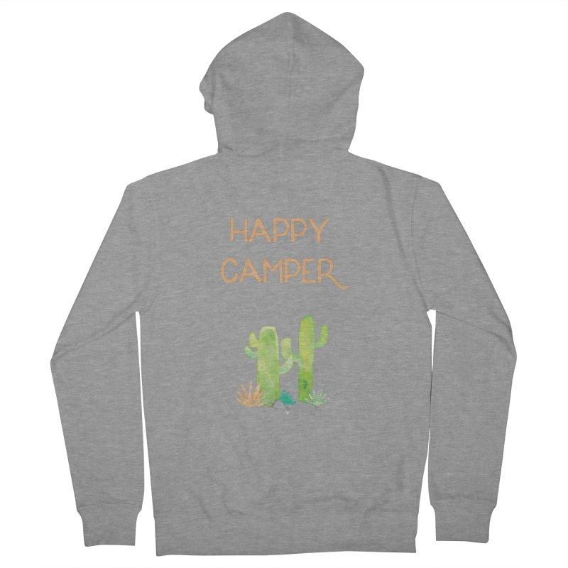 Happy Camper Men's Zip-Up Hoody by Pen & Paper Design's Shop