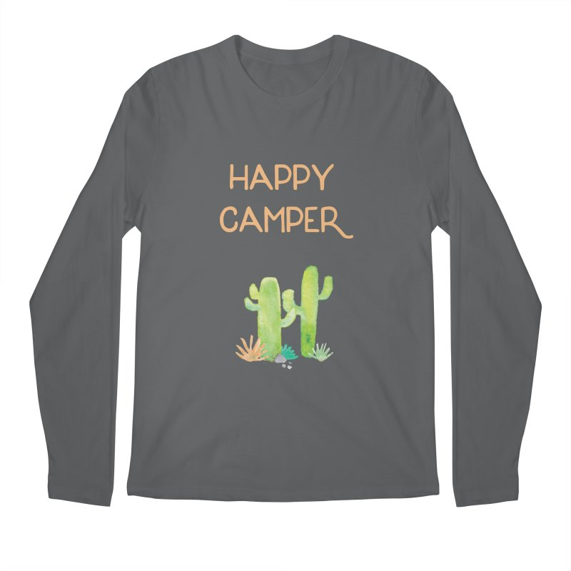 Happy Camper Men's Regular Longsleeve T-Shirt by Pen & Paper Design's Shop