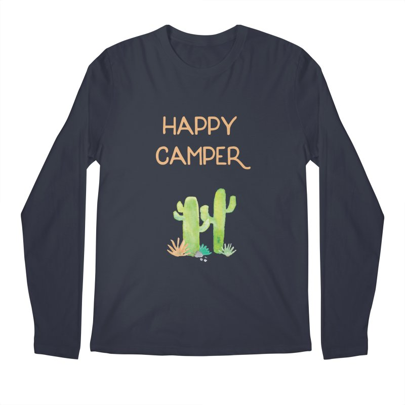 Happy Camper Men's Regular Longsleeve T-Shirt by Pen & Paper Design's Shop
