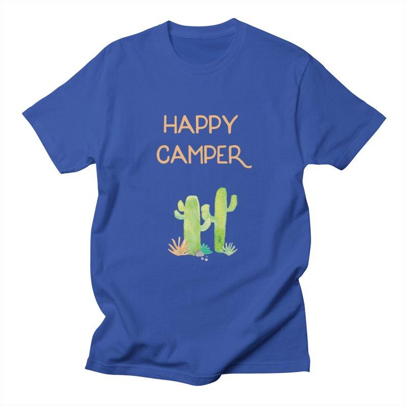 Happy Camper Men's Regular T-Shirt by Pen & Paper Design's Shop