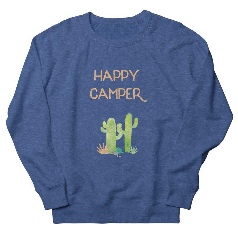 Happy Camper Men's French Terry Sweatshirt by Pen & Paper Design's Shop