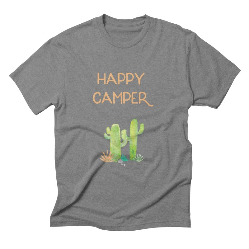 Happy Camper Men's Triblend T-Shirt by Pen & Paper Design's Shop