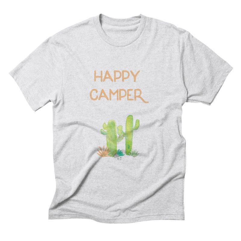Happy Camper Men's Triblend T-Shirt by Pen & Paper Design's Shop
