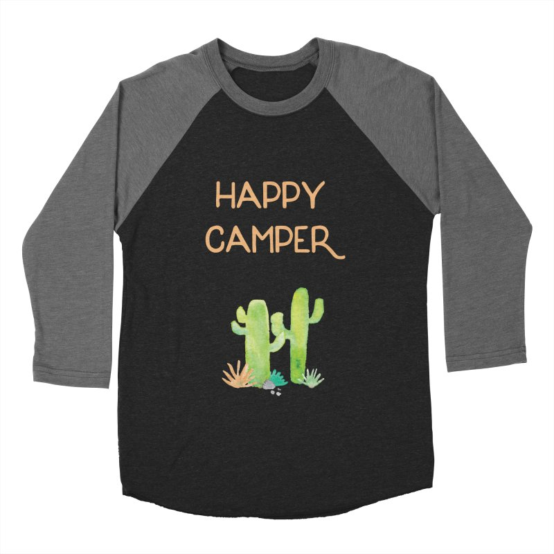 Happy Camper Women's Baseball Triblend T-Shirt by Pen & Paper Design's Shop
