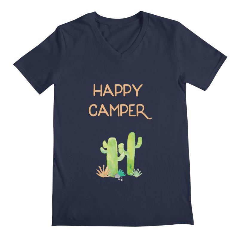 Happy Camper Men's Regular V-Neck by Pen & Paper Design's Shop