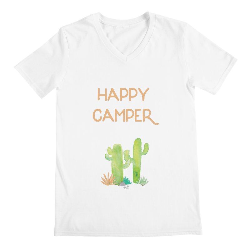 Happy Camper Men's V-Neck by Pen & Paper Design's Shop