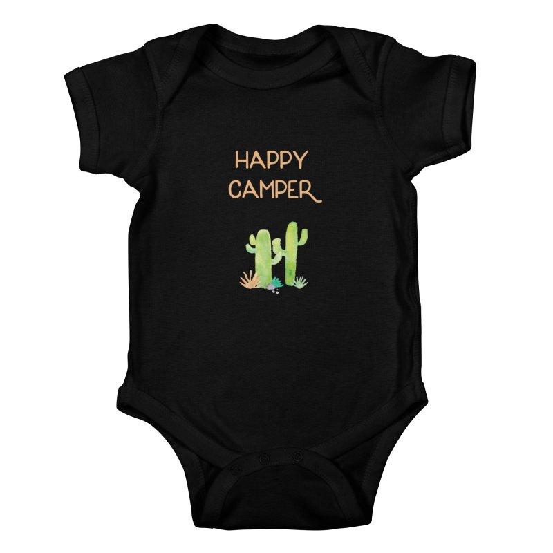Happy Camper Kids Baby Bodysuit by Pen & Paper Design's Shop