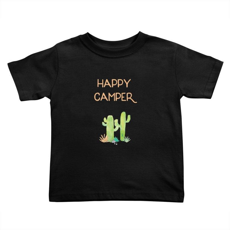 Happy Camper Kids Toddler T-Shirt by Pen & Paper Design's Shop