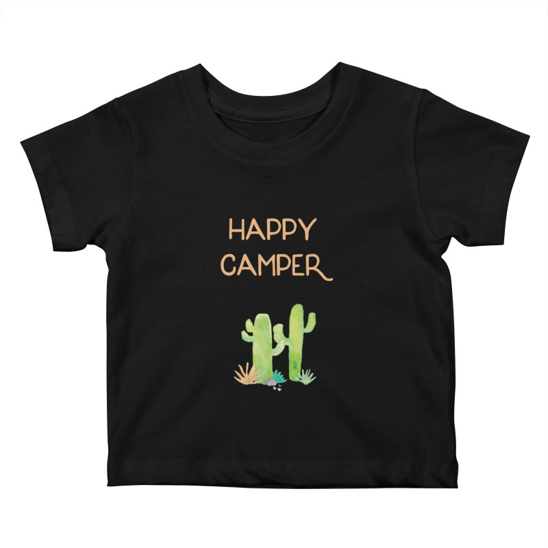 Happy Camper Kids Baby T-Shirt by Pen & Paper Design's Shop