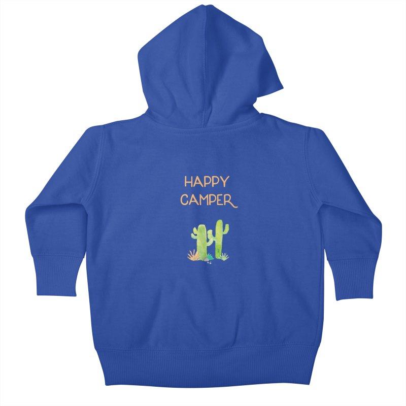 Happy Camper Kids Baby Zip-Up Hoody by Pen & Paper Design's Shop