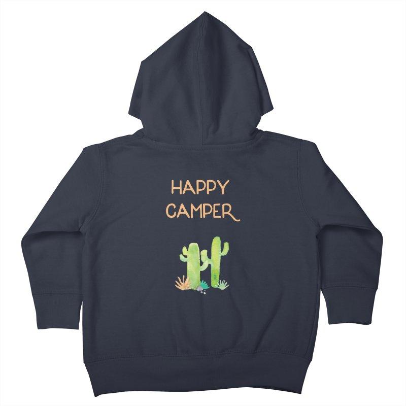 Happy Camper Kids Toddler Zip-Up Hoody by Pen & Paper Design's Shop