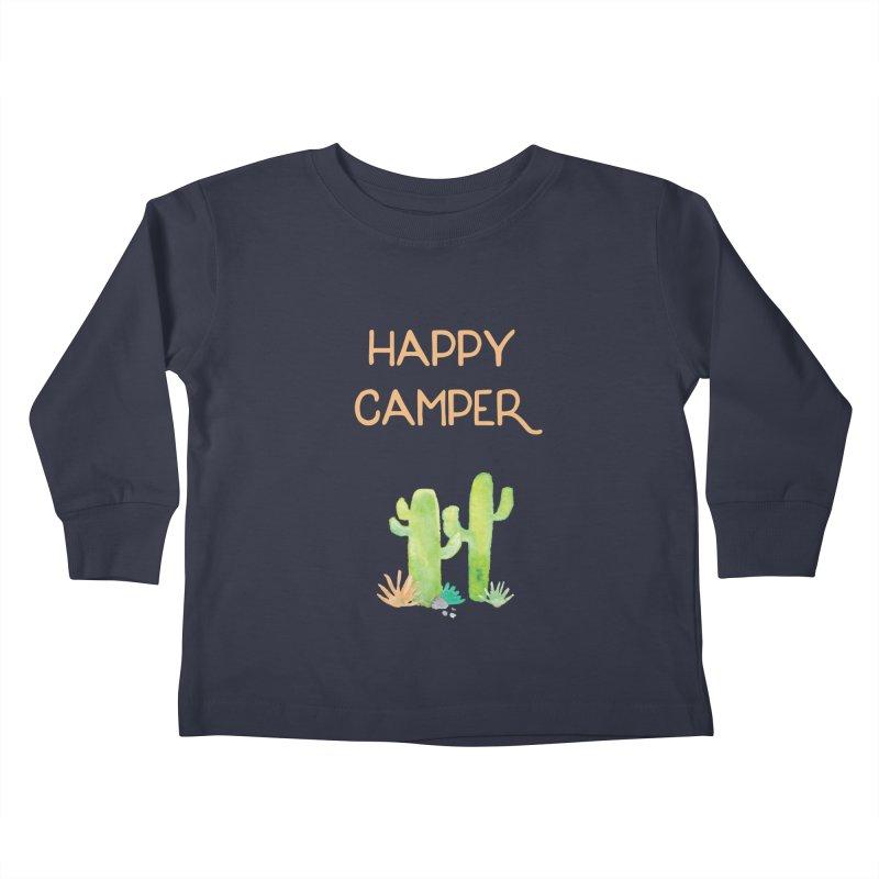 Happy Camper Kids Toddler Longsleeve T-Shirt by Pen & Paper Design's Shop