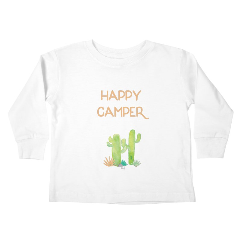 Happy Camper Kids Toddler Longsleeve T-Shirt by Pen & Paper Design's Shop