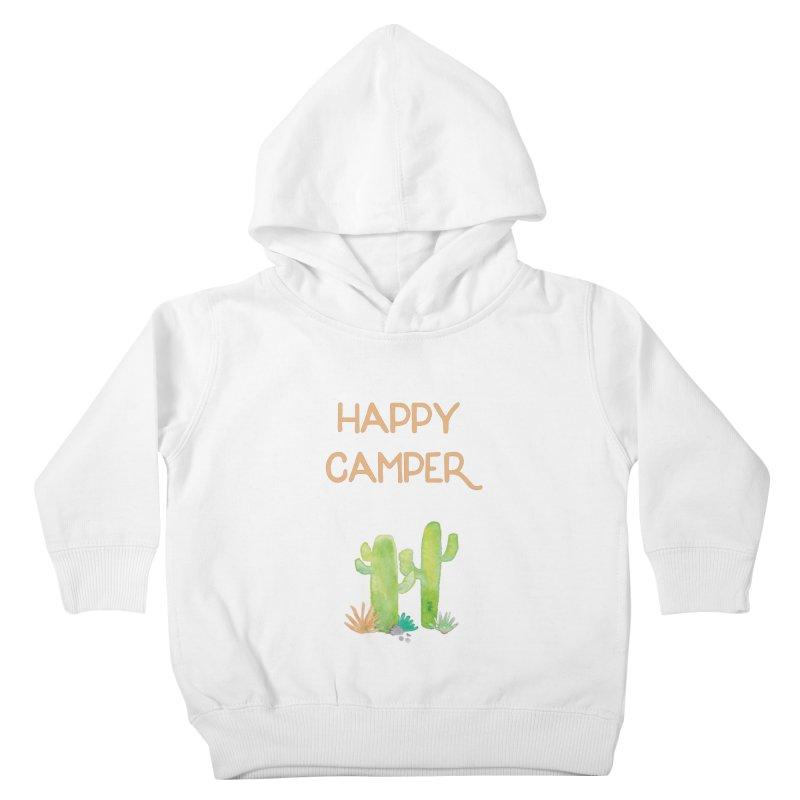 Happy Camper Kids Toddler Pullover Hoody by Pen & Paper Design's Shop