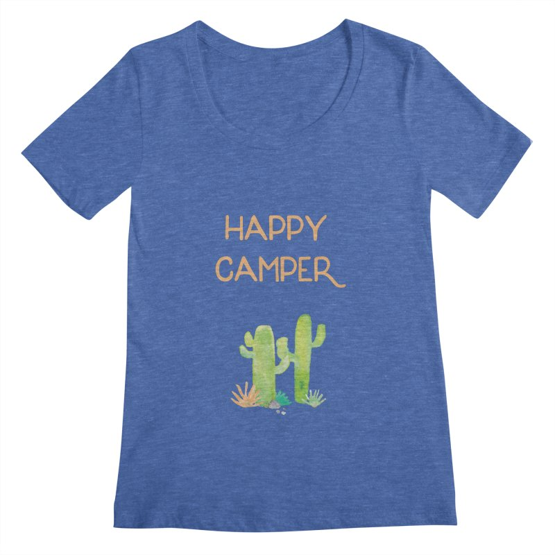 Happy Camper Women's Scoopneck by Pen & Paper Design's Shop