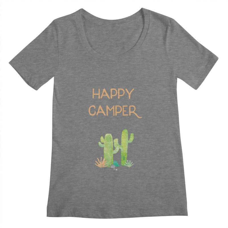 Happy Camper Women's Scoopneck by Pen & Paper Design's Shop