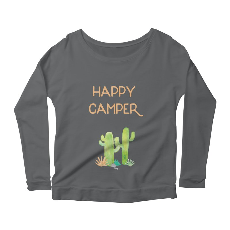 Happy Camper Women's Scoop Neck Longsleeve T-Shirt by Pen & Paper Design's Shop