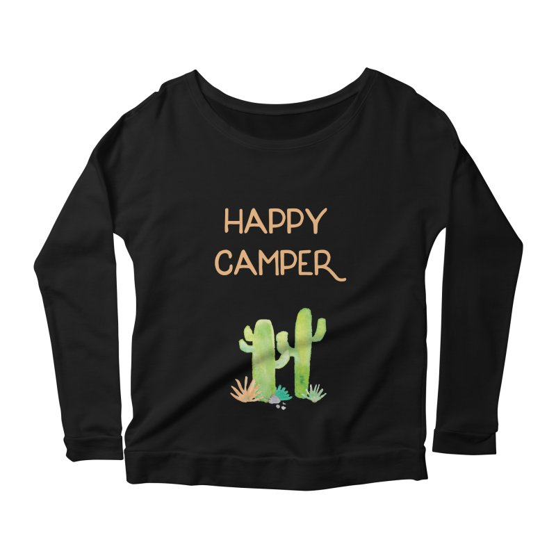 Happy Camper Women's Scoop Neck Longsleeve T-Shirt by Pen & Paper Design's Shop