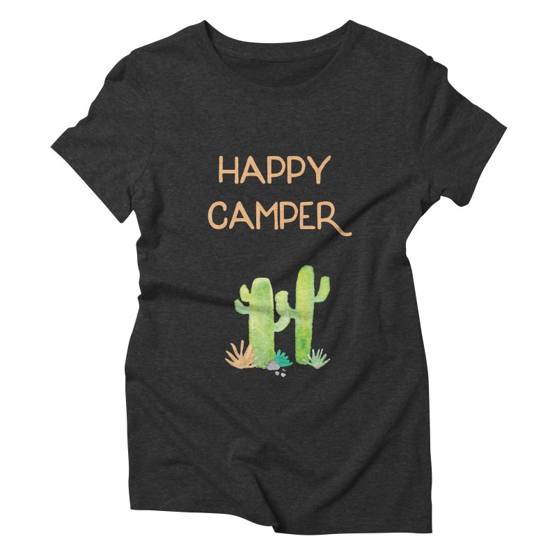 Happy Camper Women's Triblend T-Shirt by Pen & Paper Design's Shop