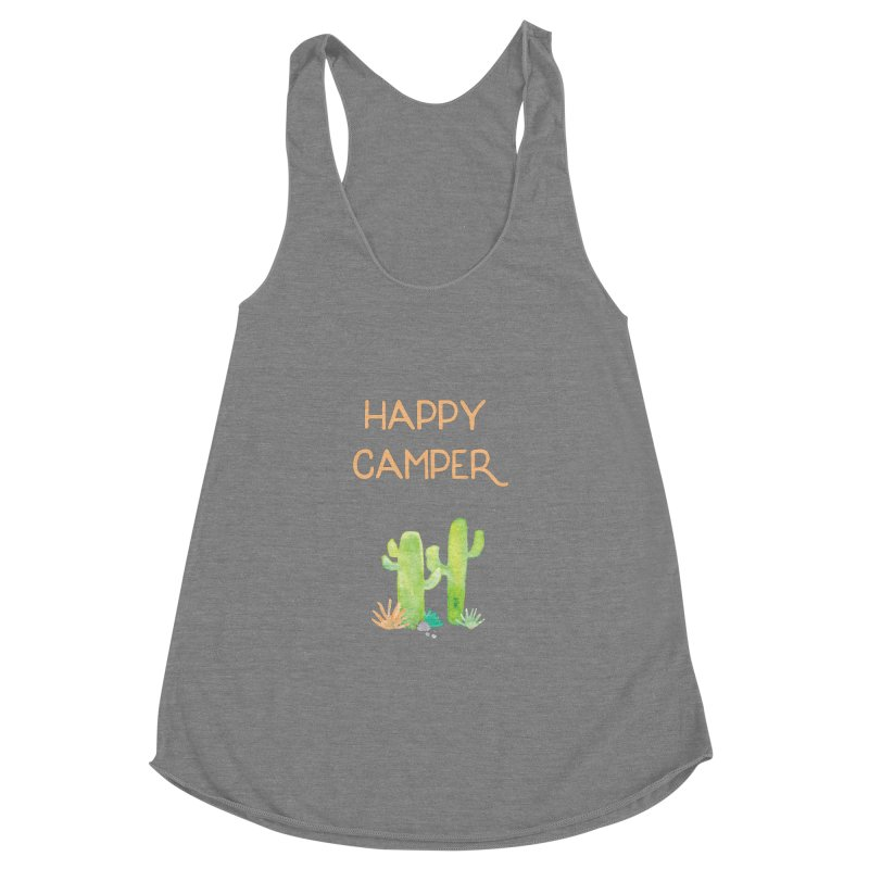Happy Camper Women's Racerback Triblend Tank by Pen & Paper Design's Shop
