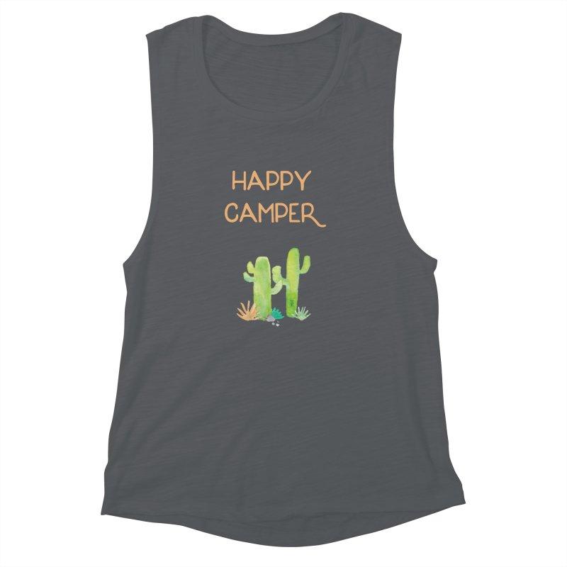 Happy Camper Women's Muscle Tank by Pen & Paper Design's Shop