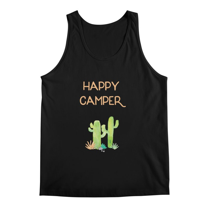 Happy Camper Men's Tank by Pen & Paper Design's Shop