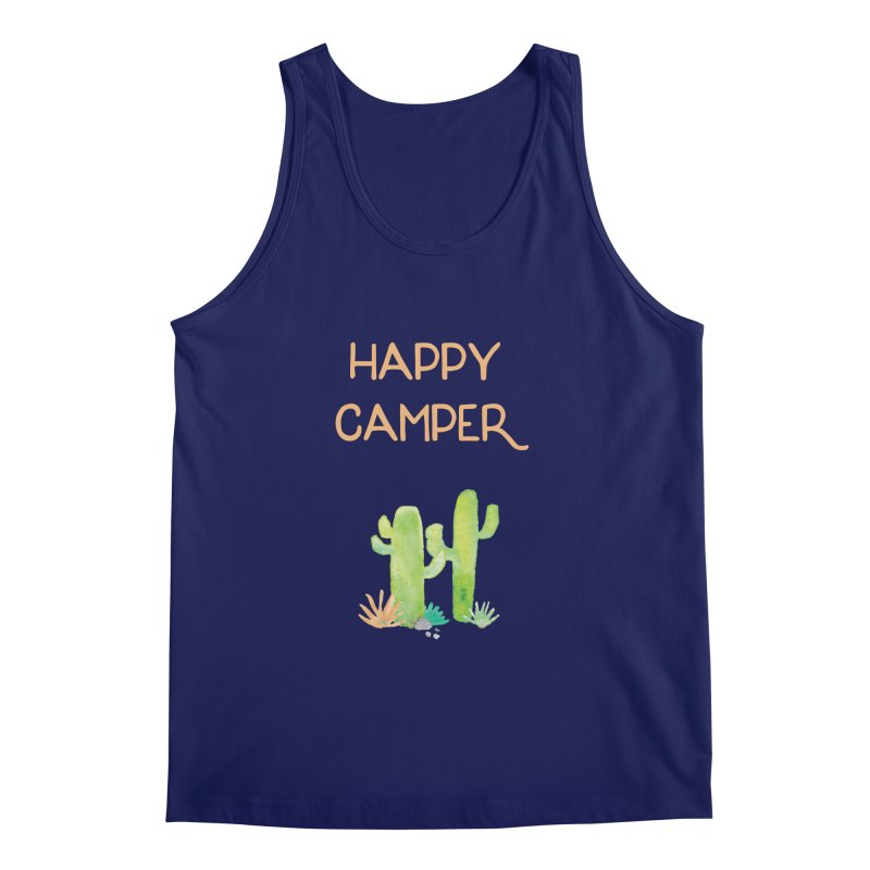 Happy Camper Men's Regular Tank by Pen & Paper Design's Shop